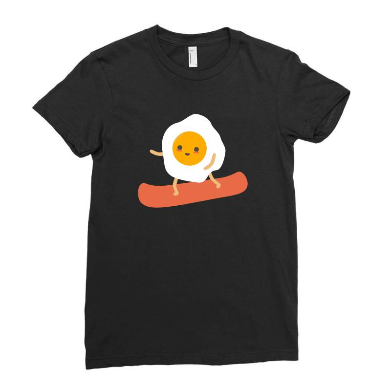 Eggs And Bacon Ladies Fitted T-shirt   Artistshot