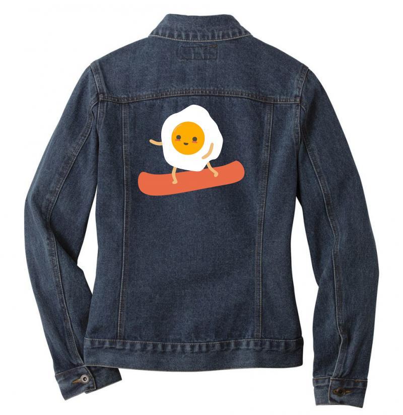 Eggs And Bacon Ladies Denim Jacket | Artistshot