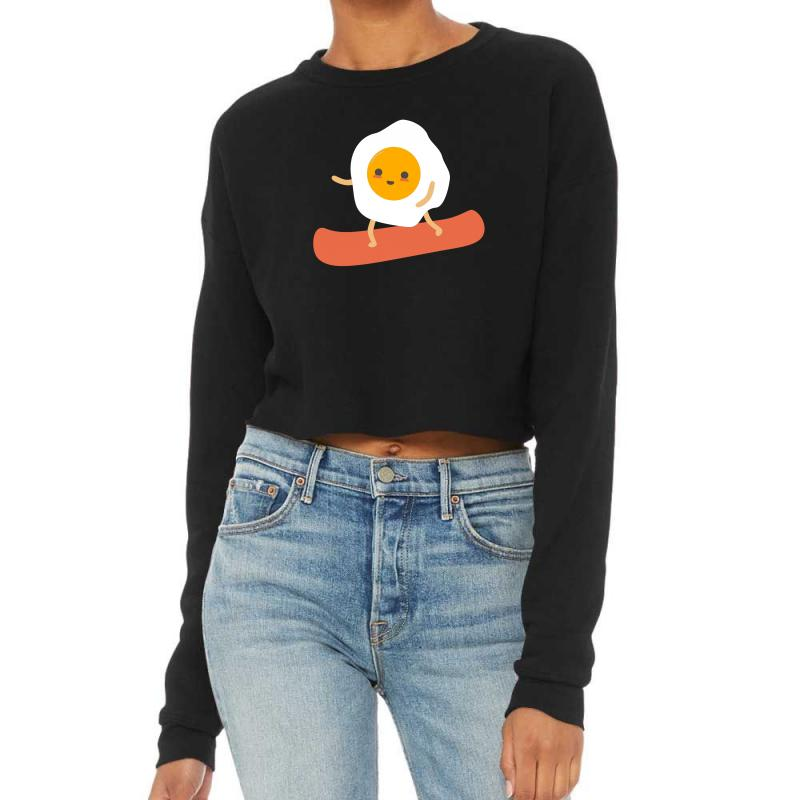 Eggs And Bacon Cropped Sweater | Artistshot