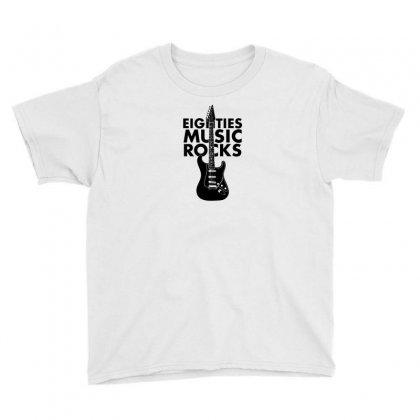 Eighties Music Rocks Youth Tee Designed By B4en1