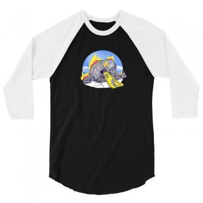 Emergency Exit 3/4 Sleeve Shirt Designed By B4en1
