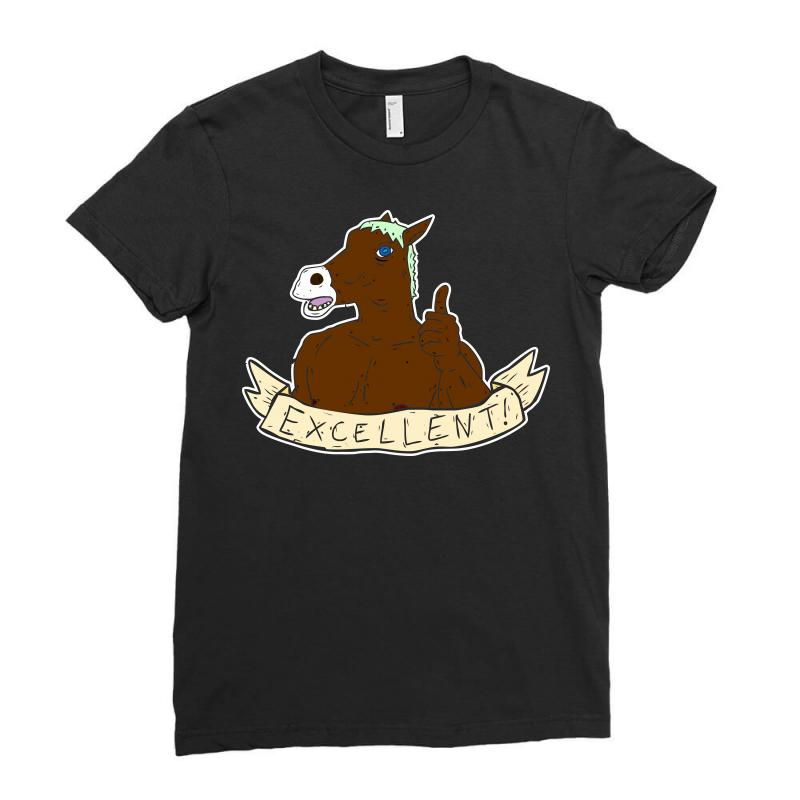 Excellent Horse Ladies Fitted T-shirt | Artistshot