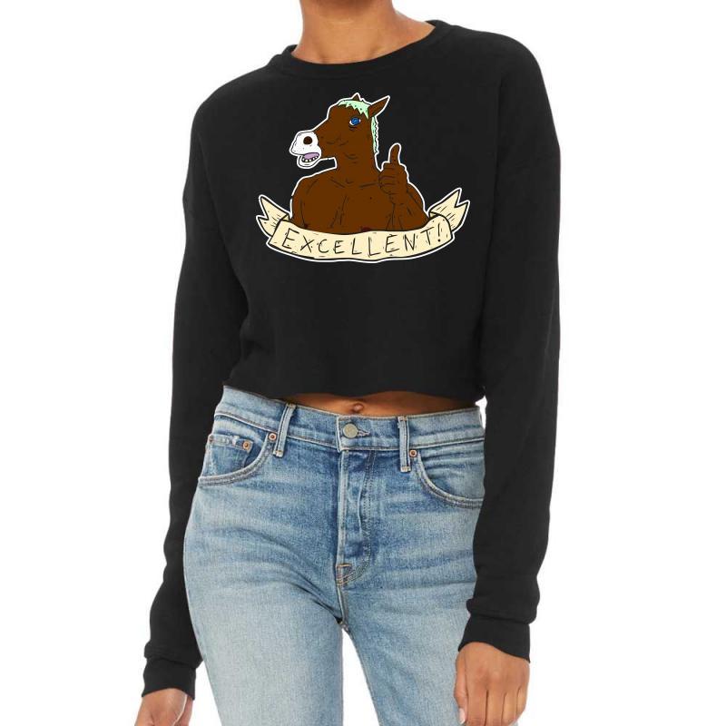 Excellent Horse Cropped Sweater | Artistshot