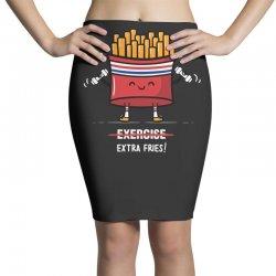 exercise extra fries Pencil Skirts | Artistshot