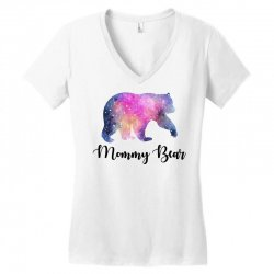 Watercolor Galaxy Bear Family Matching - Mommy Bear Women's V-Neck T-Shirt | Artistshot