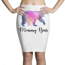 Watercolor Galaxy Bear Family Matching - Mommy Bear Pencil Skirts | Artistshot