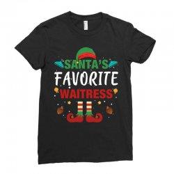 santa's favorite waitress for dark Ladies Fitted T-Shirt | Artistshot