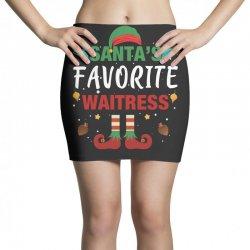 santa's favorite waitress for dark Mini Skirts | Artistshot
