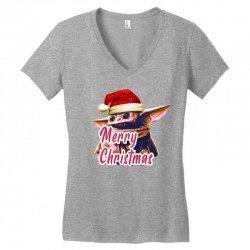 Yoda Merry Christmas Women's V-Neck T-Shirt | Artistshot