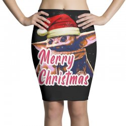 Yoda Merry Christmas Pencil Skirts | Artistshot