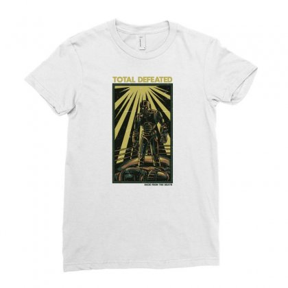 Total Defeated Ladies Fitted T-shirt Designed By Daudart