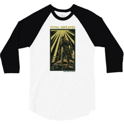 Total Defeated 3/4 Sleeve Shirt Designed By Daudart