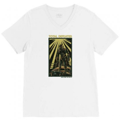Total Defeated V-neck Tee Designed By Daudart
