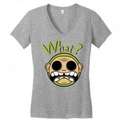 What? - Zombie Women's V-Neck T-Shirt | Artistshot