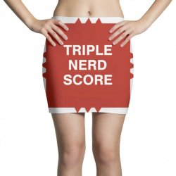 triple nerd score Mini Skirts   Artistshot