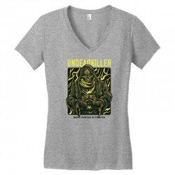 undead killer Women's V-Neck T-Shirt   Artistshot