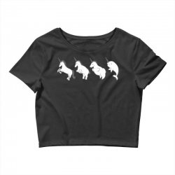 unicorn devolution Crop Top | Artistshot