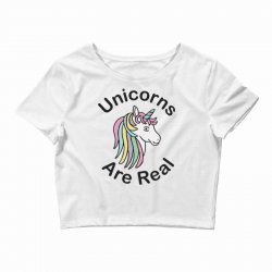 unicorns are real Crop Top | Artistshot