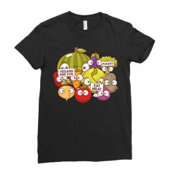 vegans are evil Ladies Fitted T-Shirt | Artistshot