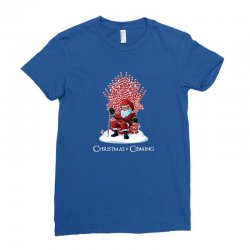 christmas is coming Ladies Fitted T-Shirt   Artistshot