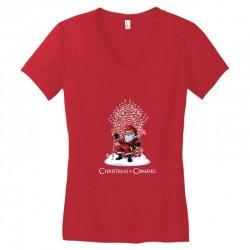 christmas is coming Women's V-Neck T-Shirt   Artistshot