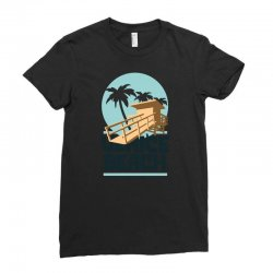 venica beach Ladies Fitted T-Shirt   Artistshot