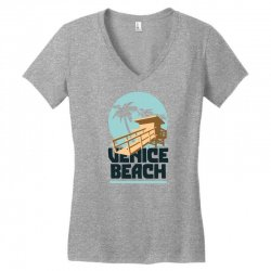 venica beach Women's V-Neck T-Shirt   Artistshot