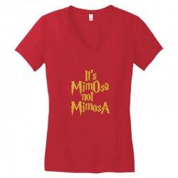 it's mimosa not mimosa Women's V-Neck T-Shirt | Artistshot