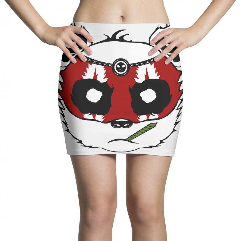 Panda Bear - Samurai Mini Skirts | Artistshot