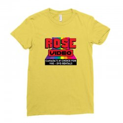 rose video logo Ladies Fitted T-Shirt | Artistshot