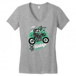 vintage racer Women's V-Neck T-Shirt   Artistshot