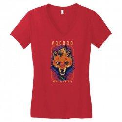 voodoo fox Women's V-Neck T-Shirt   Artistshot