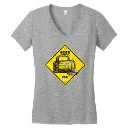 warning beer drinking Women's V-Neck T-Shirt | Artistshot