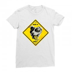 warning hug a bull Ladies Fitted T-Shirt | Artistshot