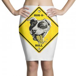 warning hug a bull Pencil Skirts | Artistshot