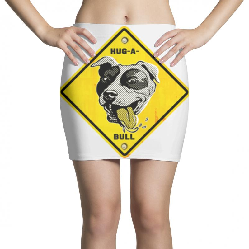 Warning Hug A Bull Mini Skirts | Artistshot