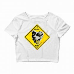 warning hug a bull Crop Top | Artistshot