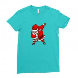 dabbing santa Ladies Fitted T-Shirt | Artistshot