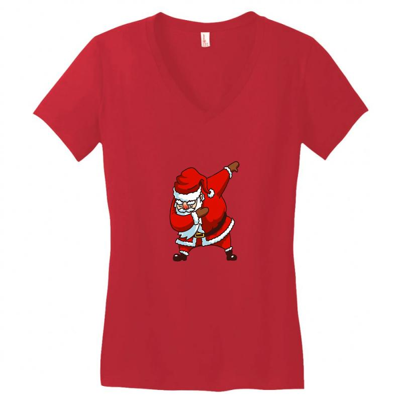 Dabbing Santa Women's V-neck T-shirt | Artistshot