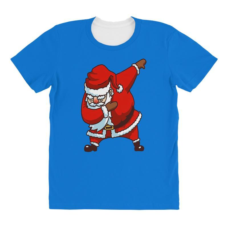 Dabbing Santa All Over Women's T-shirt   Artistshot