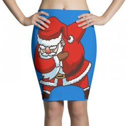 dabbing santa Pencil Skirts | Artistshot