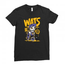 wats skull Ladies Fitted T-Shirt | Artistshot