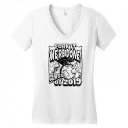 we're done 2019 grad Women's V-Neck T-Shirt | Artistshot