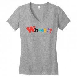 whaat! Women's V-Neck T-Shirt | Artistshot
