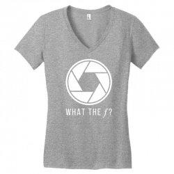 what the f Women's V-Neck T-Shirt | Artistshot