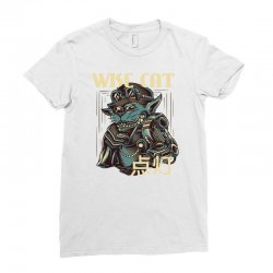 wise cat Ladies Fitted T-Shirt | Artistshot