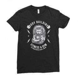 wolf gym chie badge Ladies Fitted T-Shirt | Artistshot