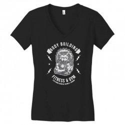 wolf gym chie badge Women's V-Neck T-Shirt | Artistshot