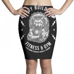 wolf gym chie badge Pencil Skirts | Artistshot