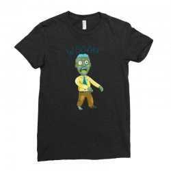 work zombie who hates his job Ladies Fitted T-Shirt | Artistshot